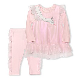 Biscotti Swan 2-Piece Dress and Pant Set in Pink
