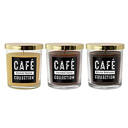 Café Collection Scented Candles (Set of 3)