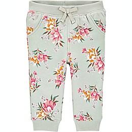 OshKosh B'gosh® Floral Fleece Pant in Sage