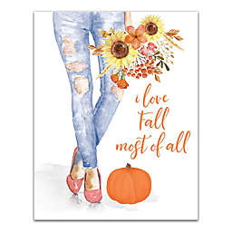 Love Fall Most of All 11x14 Canvas Wall Art