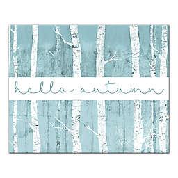 Designs Direct Hello Autumn 16-Inch x 20-Inch Canvas Wall Art