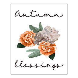 Autumn Blessings 8x10 Canvas Wall Art