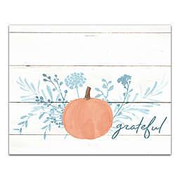 Grateful Pumpkin 16x20 Canvas Wall Art