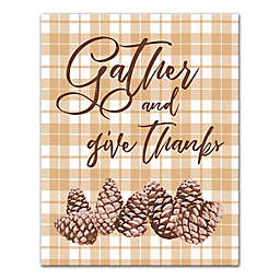 Designs Direct Gather and Give Thanks 11-Inch x 14-Inch Canvas Wall Art