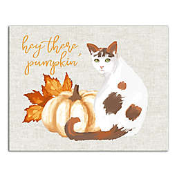 Hey There Pumpkin 11x14 Canvas Wall Art