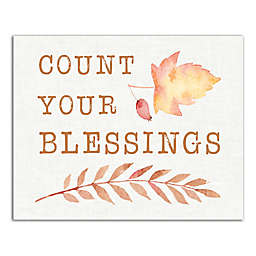 Designs Direct Count Your Blessings 8-Inch x 10-Inch Canvas Wall Art
