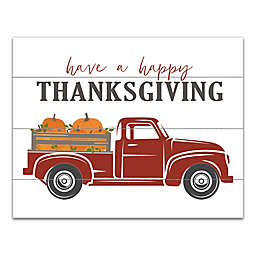 Happy Thanksgiving 11x14 Canvas Wall Art