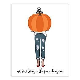 Pumpkin Girl 8x10 Canvas Wall Art