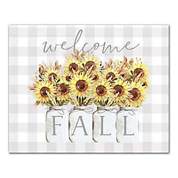 Welcome Fall Daisies 8x10 Canvas Wall Art
