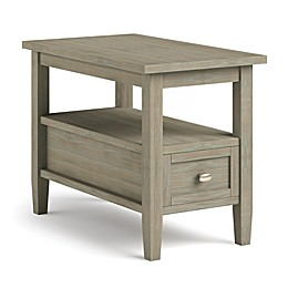 Simpli Home Warm Shaker Solid Wood Narrow Side Table
