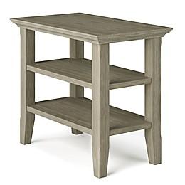 Simpli Home Acadian Solid Wood Narrow Side Table