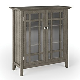 Simpli Home Bedford Storage Cabinet in Farmhouse Grey