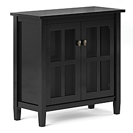 Simpli Home Warm Shaker Low Storage Cabinet in Black