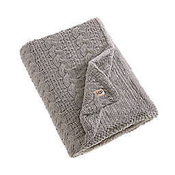 UGG® Yucca Reversible Throw Blanket in Fawn