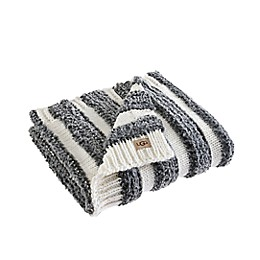 UGG® Andra Throw Blanket in Charcoal/Snow