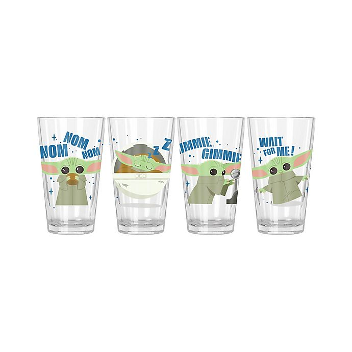 Alternate image 1 for Star Wars™ The Mandalorian 16 oz. Pint Glasses (Set of 4)