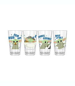 Vasos de vidrio de vidrio Star Wars™ The Mandalorian, Set de 4