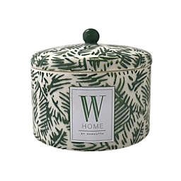 W Home™  14 oz. Palm Print Citronella Candle in Green