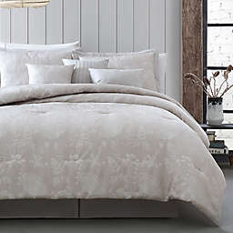 Cynthia Jacquard 7-Piece Reversible Comforter Set in Moonbeam