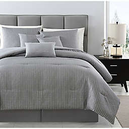 Rayden Jacquard 7-Piece King Comforter Set in Grey