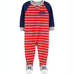 carter's® Varsity Footie Pajama in Red/Navy