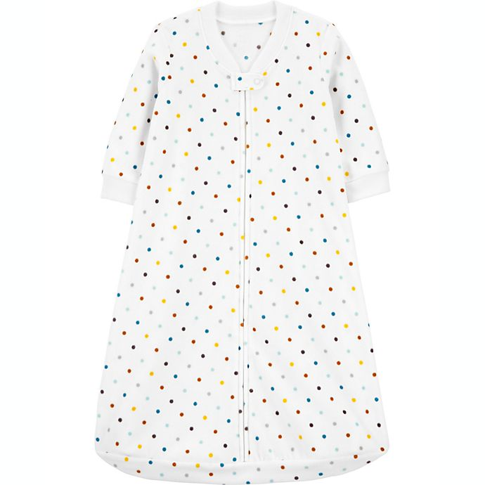 Alternate image 1 for carter's® Size 0-3M Polka Dot Fleece Sleep Bag in Ivory
