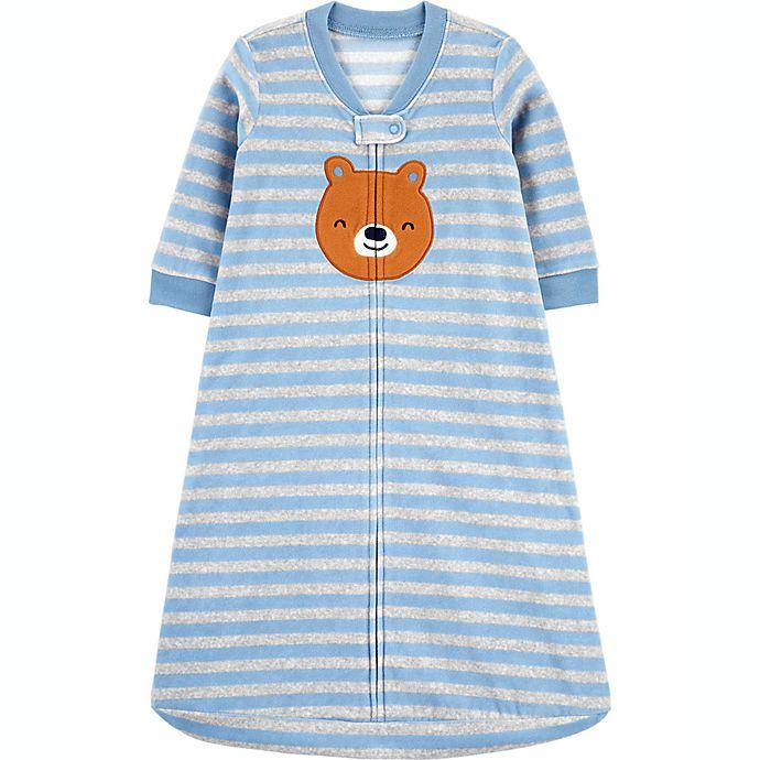 Alternate image 1 for carter's® Bear Fleece Sleep Bag in Blue