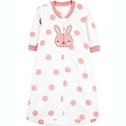 carter's® Bunny Fleece Sleep Bag in Pink/White