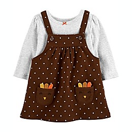 carter's® 2-Piece Thanksgiving Bodysuit and Jumper Set in Brown