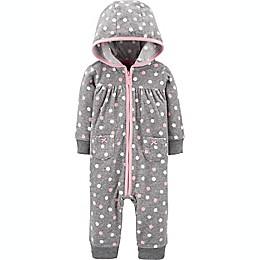 carter's® Polka Dot Fleece Jumpsuit