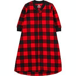 carter's® Size 0-3M Buffalo Check Fleece Sleep Bag in Red/Black