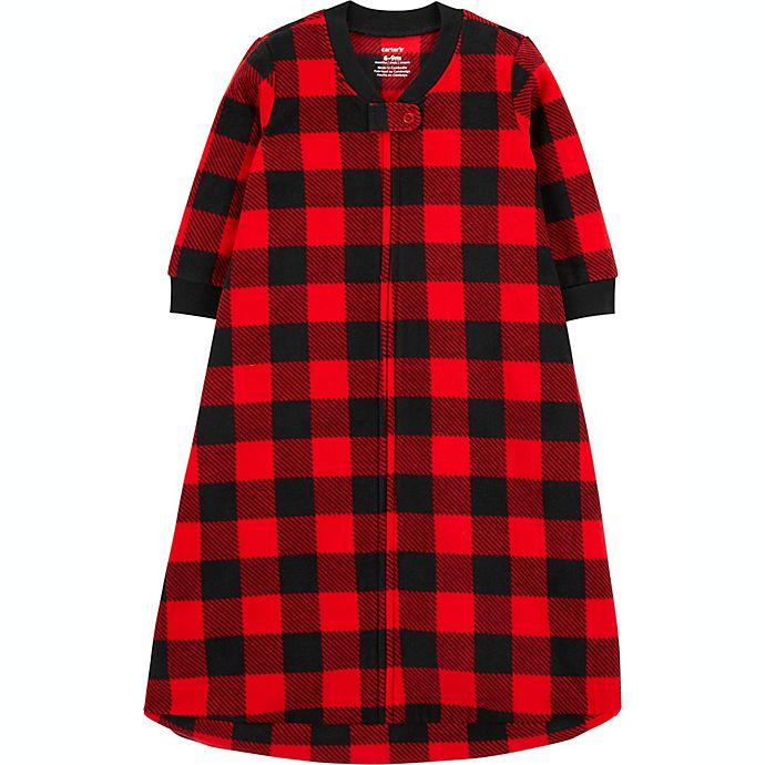 Alternate image 1 for carter's® Size 0-3M Buffalo Check Fleece Sleep Bag in Red/Black