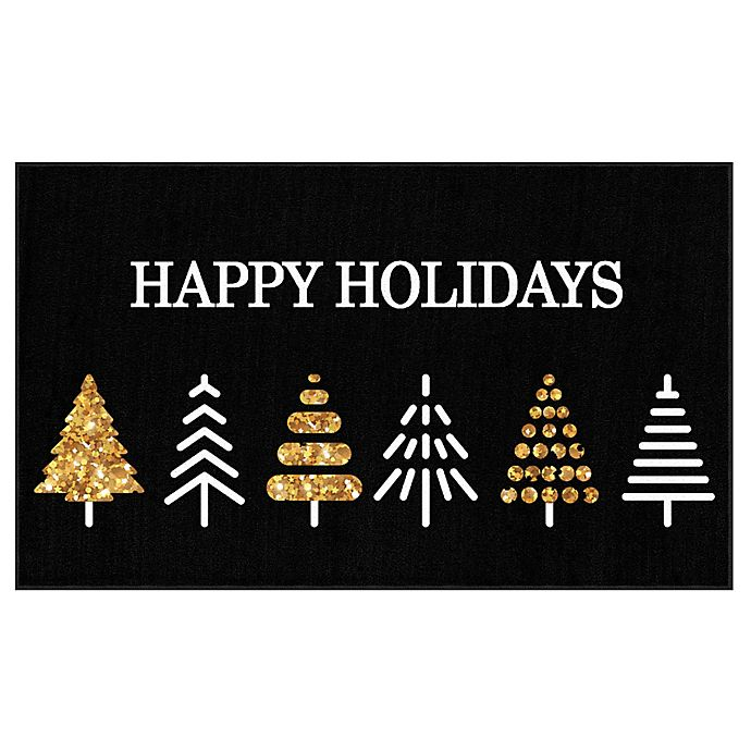 Alternate image 1 for Mohawk Home® Prismatic Holiday Trees Rug in Black