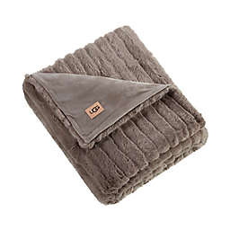 UGG® Glenoak Ribbed Faux Fur Throw Blanket