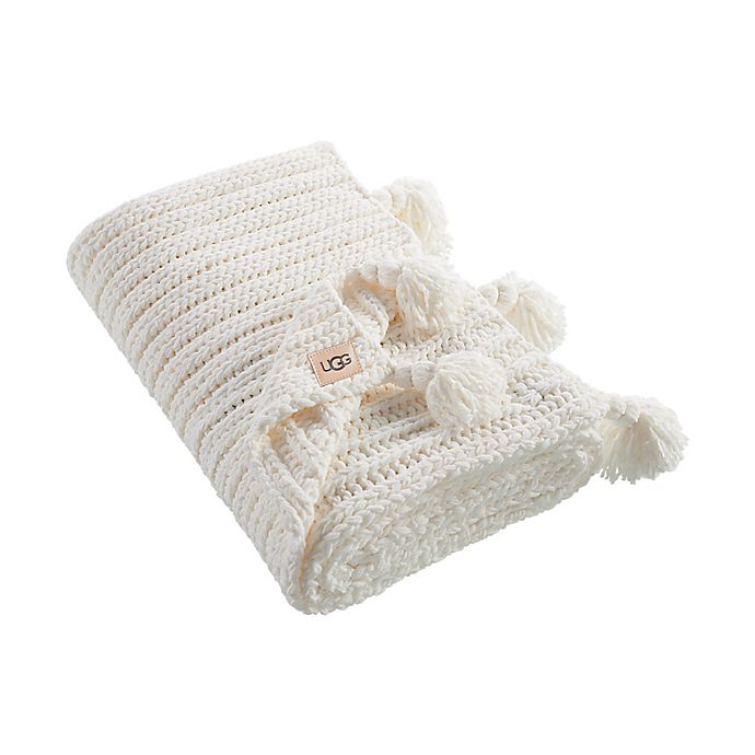 Alternate image 1 for UGG® Rhodes Throw Blanket in Snow