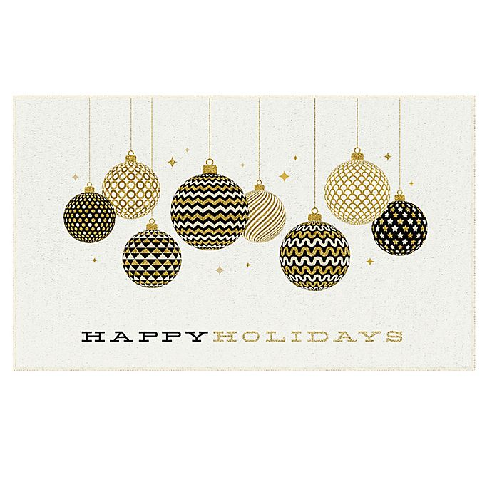 Alternate image 1 for Mohawk Home® Prismatic Holiday Ornaments Rug in Gold