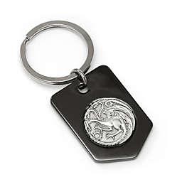 Game of Thrones Targaryen Dragon Key Chain in Black/Silver