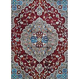 Couristan Gypsy Hafiz Area Rug in Antique Red