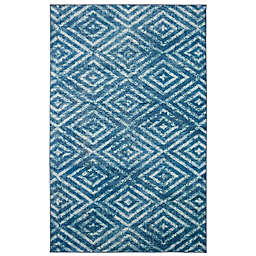 Mohawk® Home Prismatic Distressed Diamond Rug in Teal