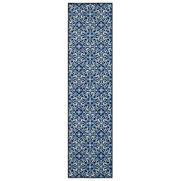 "Mohawk Home® 2'6"" x 8' Prismatic Amstel Runner in Navy"