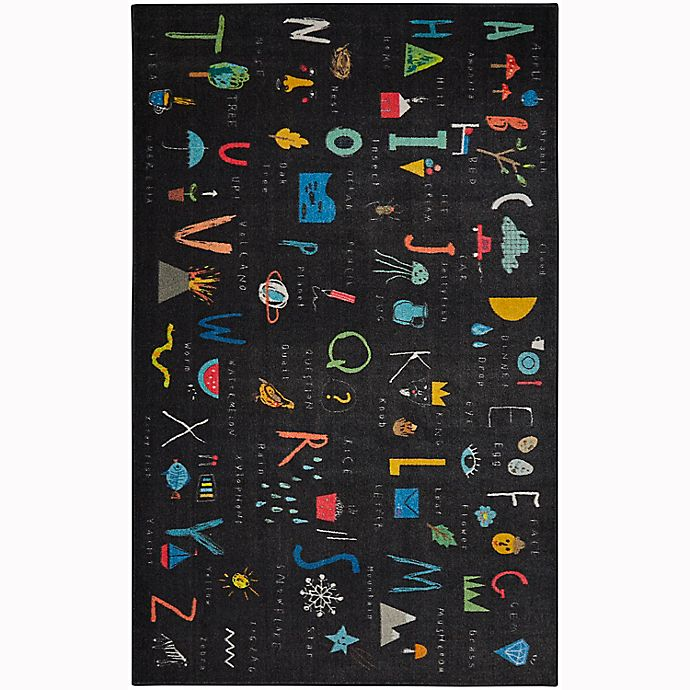 Alternate image 1 for Mohawk Home® Prismatic ABC Letters Rug in Black