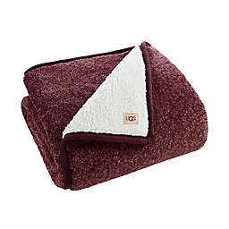 UGG® Melange Classic Sherpa Throw Blanket in Red