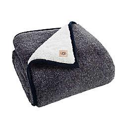 UGG® Melange Classic Sherpa Throw Blanket in Blue Melange