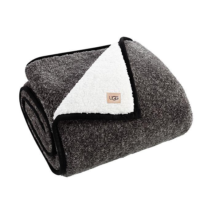 Alternate image 1 for UGG® Melange Classic Sherpa Throw Blanket in Black