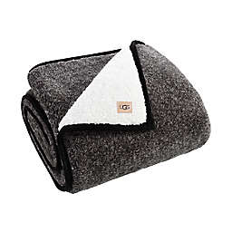 UGG® Melange Classic Sherpa Throw Blanket in Black