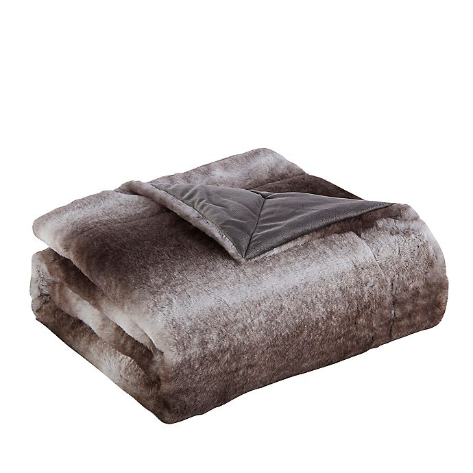 Alternate image 1 for Reaburn Faux Fur Throw Blanket in Brown