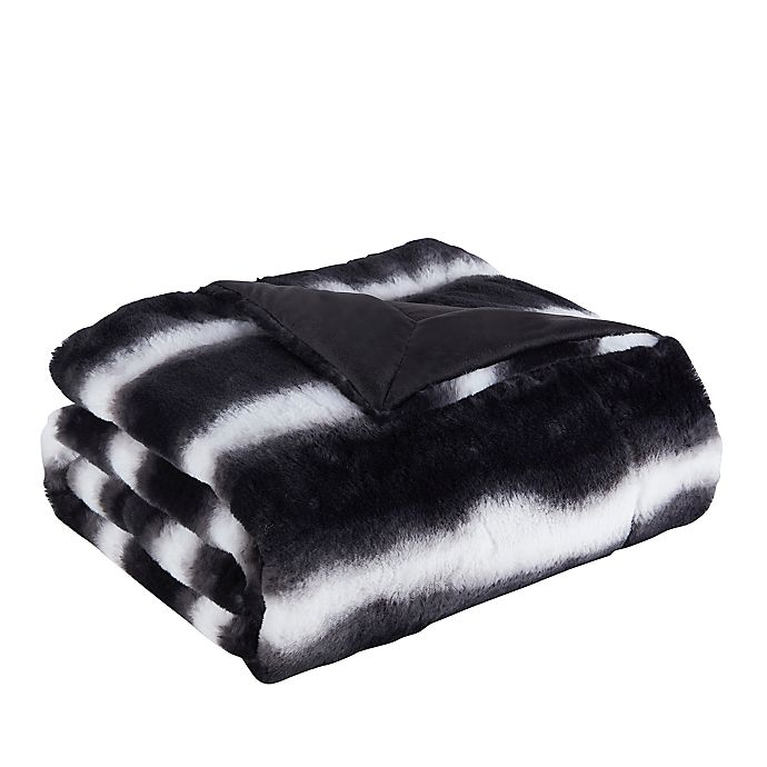Alternate image 1 for Denali Faux Fur Throw Blanket in Black/White