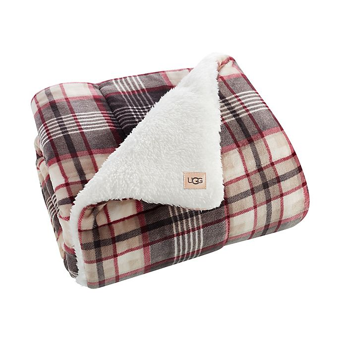 Alternate image 1 for UGG® Avery Quilted Throw Blanket in Winter Plaid