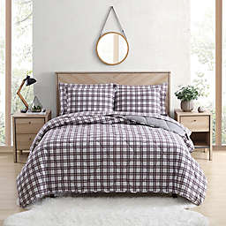 UGG® Juvie 2-Piece Twin Flannel Comforter Set in Cabernet