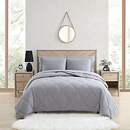 UGG® Juvie 2-Piece Twin Flannel Comforter Set in Heather Grey